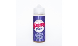 Жидкость Happy Vaper - GRAPE BOMB (120 мл / 3 мг)
