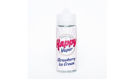 Жидкость Happy Vaper - STRAWBERRY ICE CREAM (120 мл / 3 мг)